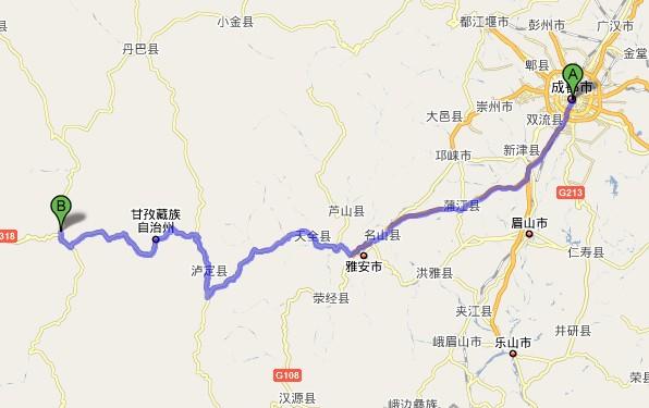 成都新都桥交通地图-稻城亚丁旅游网