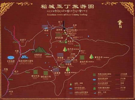 稻城亚丁景区地图_稻城亚丁旅游地图-稻城亚丁旅游网